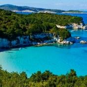 19 Sep 2013, Paxos, Greece --- Greece, Ionian island, Antipaxi, Voutoumi beach --- Image by © Bruno Morandi/Corbis