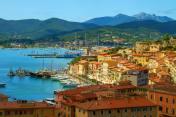 Portoferraio harbour in the island of Elba