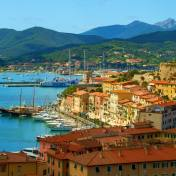 Portoferraio harbour in the island of Elba